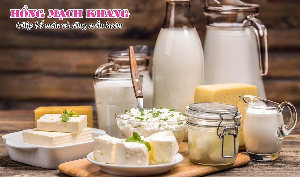 Người bệnh thiếu máu nên hạn chế sử dụng các chế phẩm từ sữa